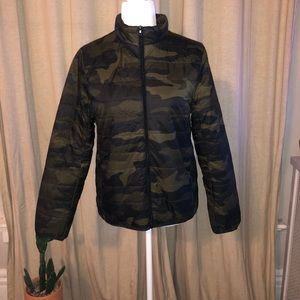 NWT Pink Camo/Army Down Puffer Coat
